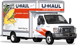 AAA Mini Storage Climate Controlled Palestine TX UHaul 15ft Moving Truck